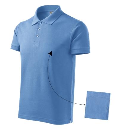 Cotton polokošile pánská nebesky modrá 3XL
