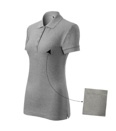 Polokošile dámská Cotton tmavě šedý melír XXL