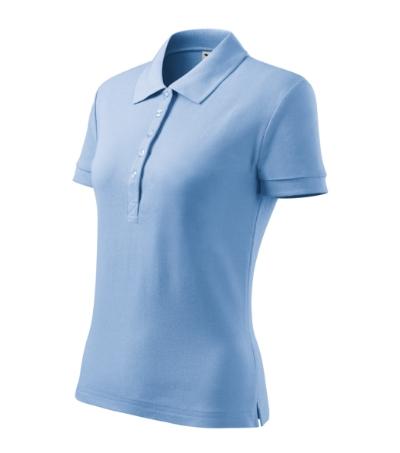 Cotton Heavy polokošile dámská nebesky modrá 2XL