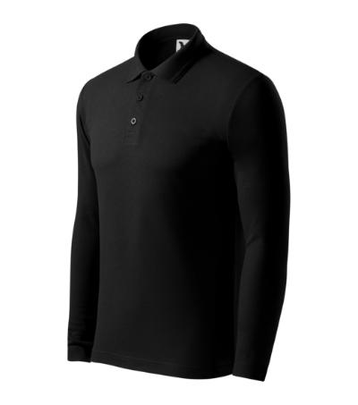 Pique Polo LS polokošile pánská černá XXXL