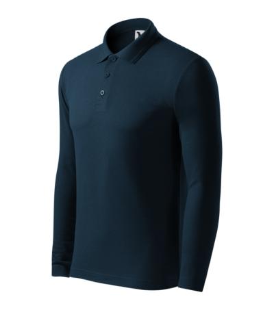 Pique Polo LS polokošile pánská námořní modrá XXXL