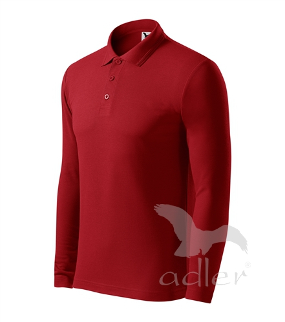 Pique Polo LS polokošile pánská červená XXXL