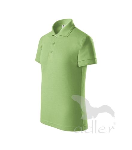 Pique Polo polokošile dětská trávově zelená 146 cm