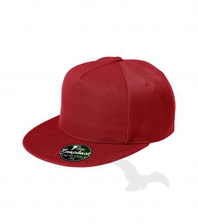 Rap 5P čepice unisex červená nastavitelná