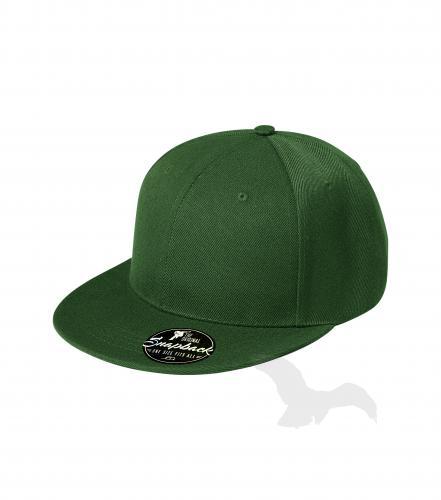 Rap 6P čepice unisex lahvově zelená nastavitelná