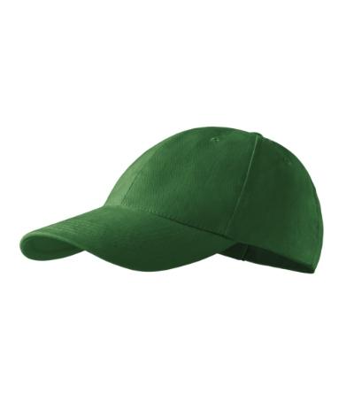 Čepice 6P lahvově zelená