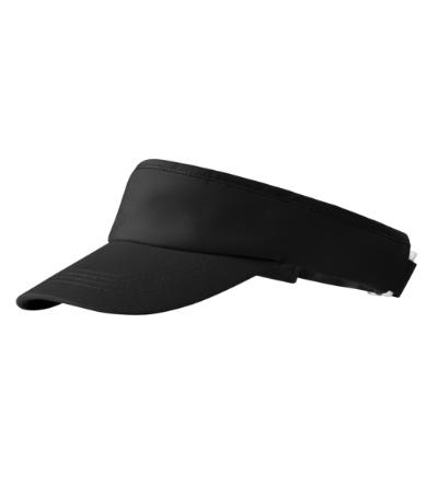 Kšilt Sunvisor černý, nastavitelný