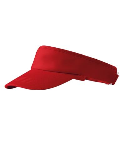 Kšilt Sunvisor červený, nastavitelný