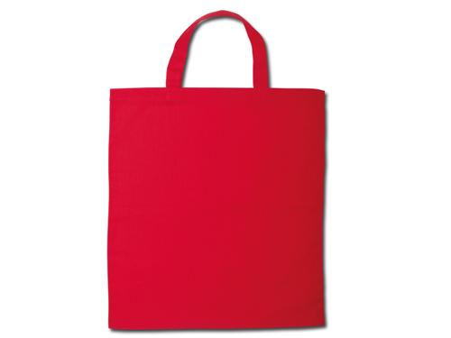Bavlněné tašky 38 x 42 cm - červené, krátká ucha