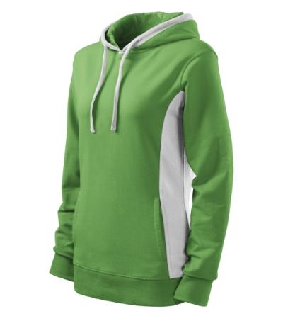 Mikina dámská Kangaroo trávově zelená/bílá XXL
