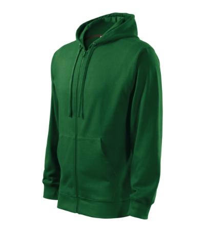 Trendy Zipper mikina pánská lahvově zelená 3XL