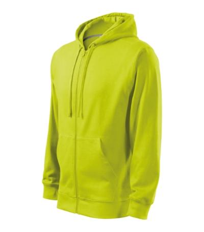 Trendy Zipper mikina pánská/dětská limetková 3XL