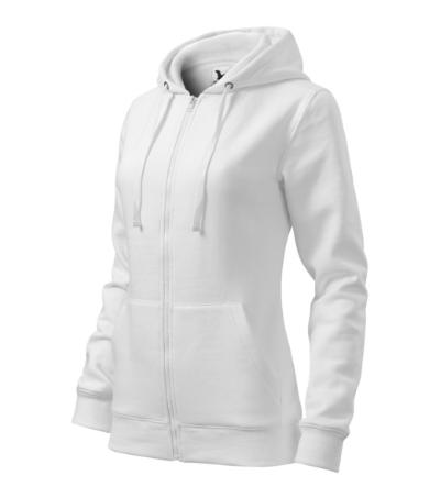 Mikina dámská Trendy Zipper bílá XXL