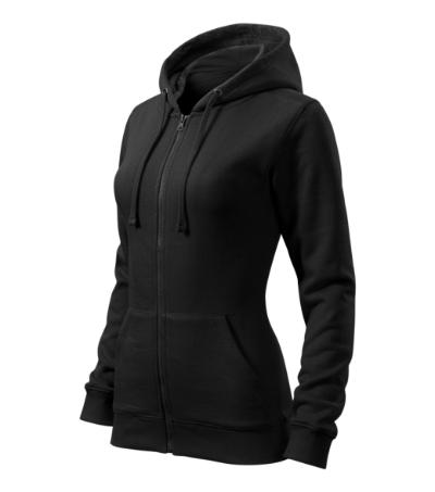 Mikina dámská Trendy Zipper černá XXL