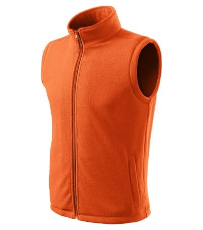 Next fleece vesta unisex oranžová 3XL