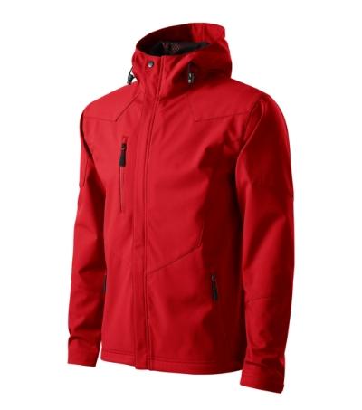 Nano softshellová bunda pánská červená 3XL