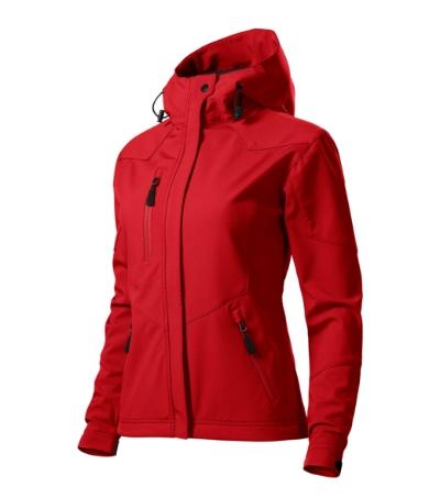Nano softshellová bunda dámská červená 2XL