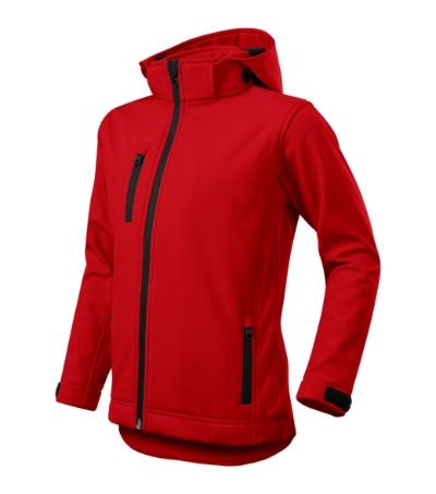 Performance softshellová bunda dětská červená 146 cm/10 let