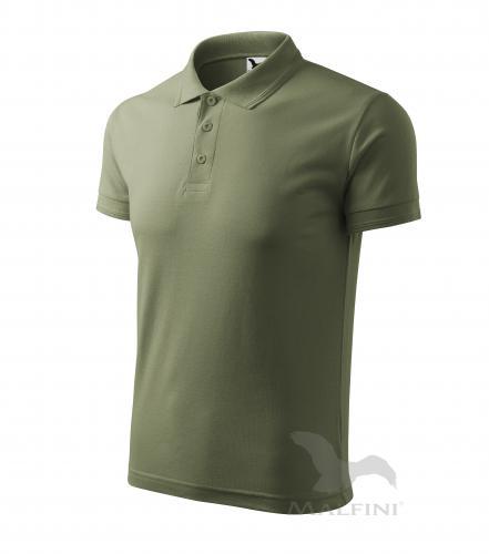 Pique Polo polokošile pánská khaki M