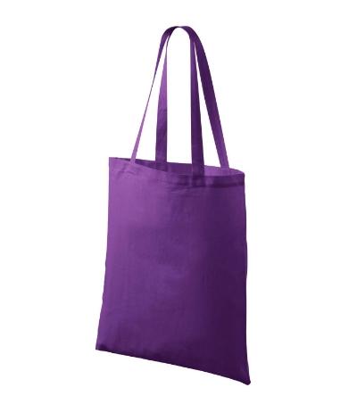 Bavlněné tašky 38 x 42 cm - fialové, dlouhé ucho