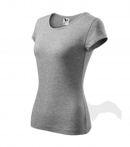 Pure tričko dámské tmavě šedý melír 3XL