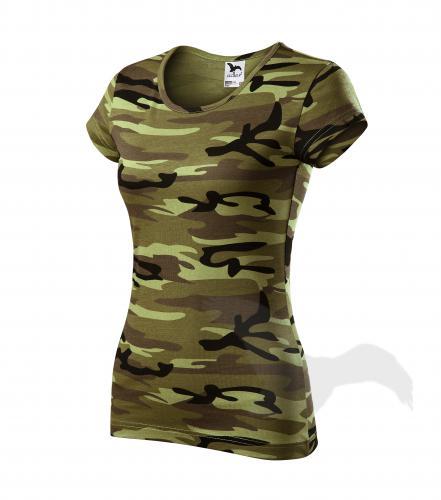 Pure tričko dámské camouflage green L