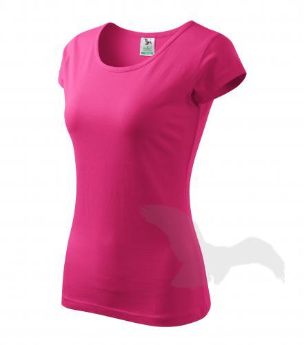 Pure tričko dámské purpurová 2XL