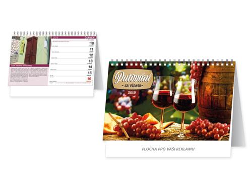 PUTOVÁNÍ ZA VÍNEM - stolní kalendář, 30x18,5 cm