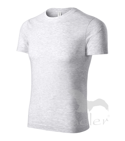 Peak tričko unisex světle šedý melír XXXXL