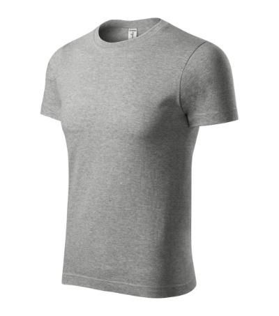 Peak tričko unisex tmavě šedý melír XXXXL