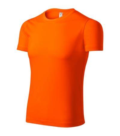 Pixel tričko unisex neon orange 3XL