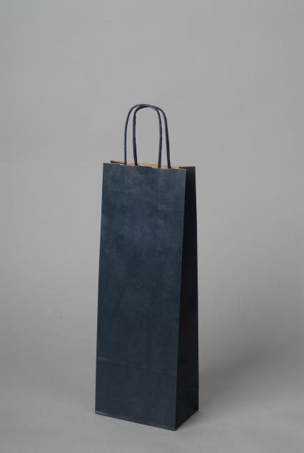 Papírové tašky o rozměru<br> 150 x 80 x 400 mm, modrá