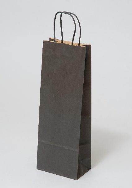 Papírové tašky o rozměru<br> 150 x 80 x 400 mm, černá