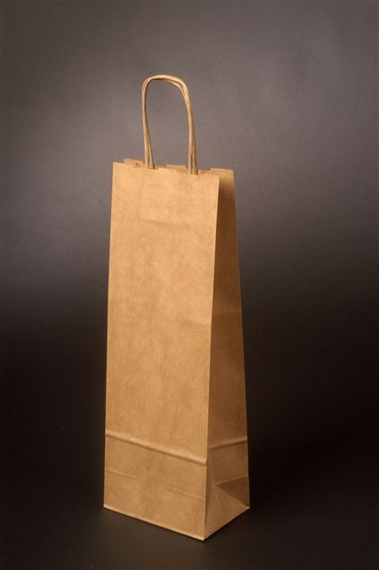 Papírové tašky o rozměru<br> 180 x 80 x 400 mm, přírodní