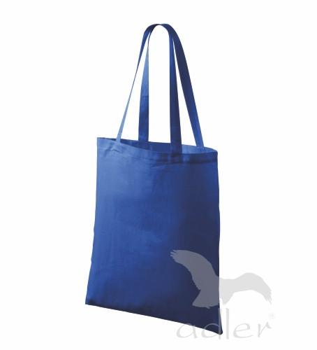 Bavlněné tašky 38 x 42 cm - modré, dlouhé ucho