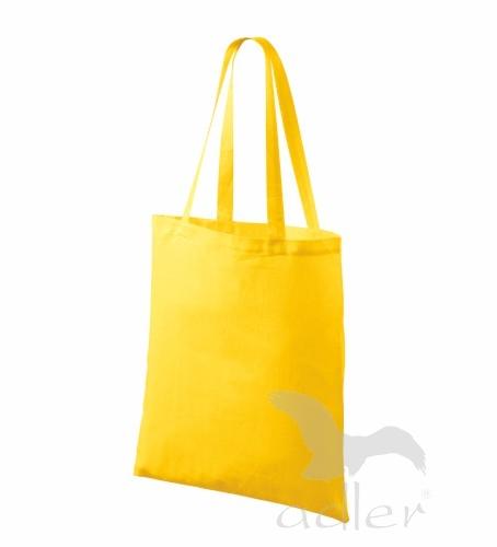 Bavlněné tašky 38 x 42 cm - žluté, dlouhé ucho