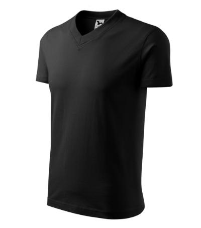 Tričko V-neck 160 černé M