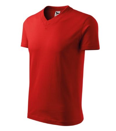 Tričko V-neck 160 červené XXXL