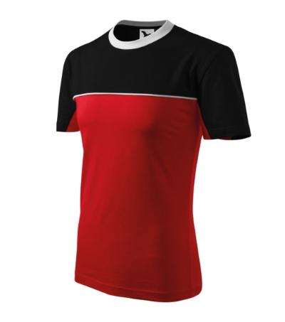 Colormix tričko unisex červená 3XL