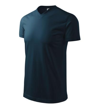 Heavy V-neck tričko unisex námořní modrá 3XL