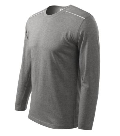 Triko Unisex long sleeve 180 tmavě šedý melír XXXL