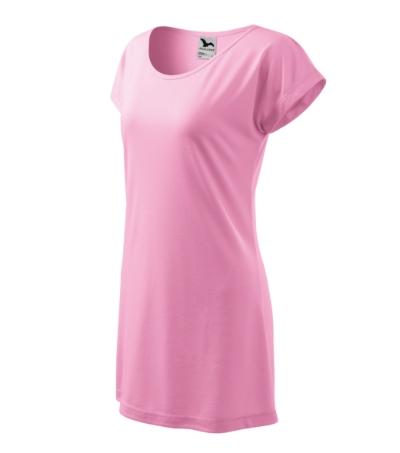 Love tričko/šaty dámské růžová 2XL
