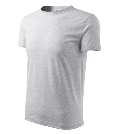 Tričko pánské Classic New světle šedý melír 3XL f0435bfd43