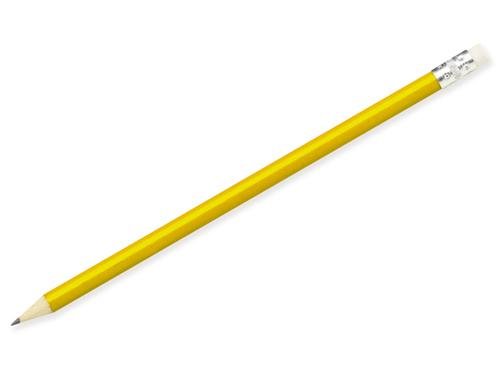 FREJA - Grafitová tužka sgumou, ořezaná.
