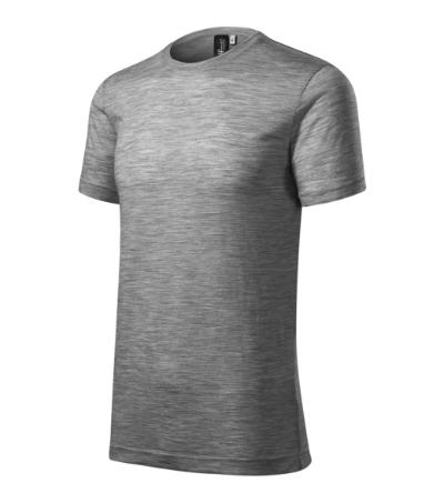 Merino Rise tričko pánské tmavě šedý melír S