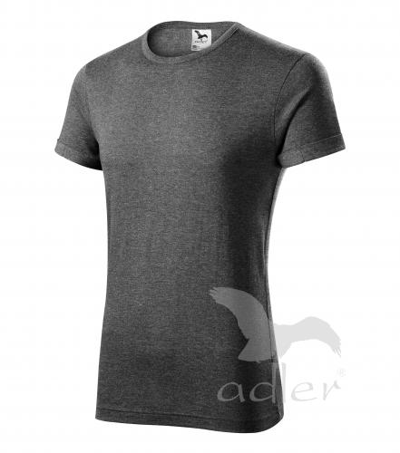 Fusion tričko pánské černý melír L