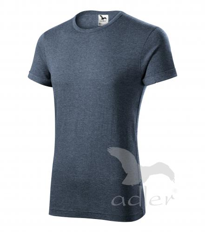 Fusion tričko pánské tmavý denim melír 2XL