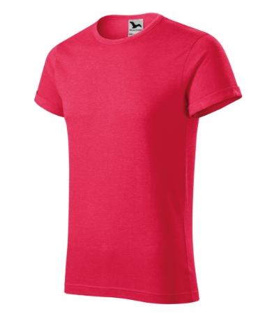 Fusion tričko pánské červený melír 2XL