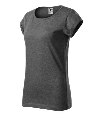 Fusion tričko dámské černý melír 2XL