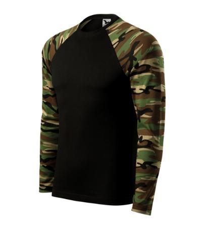 Camouflage LS triko unisex camouflage brown XL